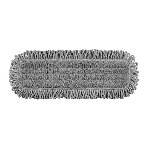 Rubbermaid Commercial Products 1867397 Executive Series Pulse Multi-Purpose Microfiber Dusting Flat Mop, 18'', Single-Sided (Pack of 6) by Rubbermaid Commercial Products