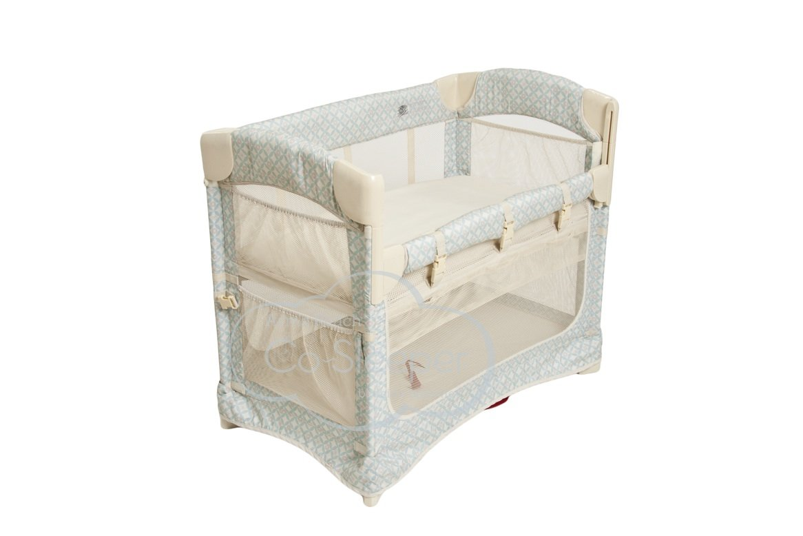 Arm's Reach Concepts Mini Ezee 2-in-1 Bedside Bassinet - Turquoise Geo Arm's Reach Concepts 5611-TG