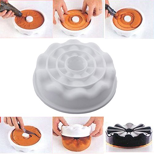 SuperStores 1PCS Silicone Angel Food Cake Non-stick Baking Petal Savarin Armoni Cake Pizza Pan Polymer Clay Molds Biscuit de Savoie - Armoni Glasses