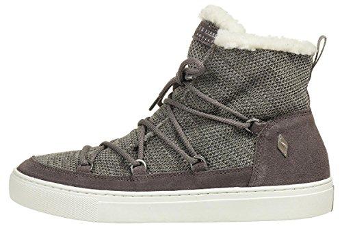 Skechers STREET Damen High Top Sneaker Side Street Warm Wrappers Schwarz Grau