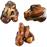 Lilly's Choice Dog Bones for Aggressive Chewers - Made in the USA - Long Lasting Natural America Grass Fed Beef Chew Treats with Bone Marrow - Best for Medium and Large Breed Dogs - 3 Pack
