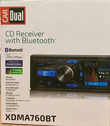 "Car Dual XDMA760BT CD/MP3 Receiver with Bluetooth and 3"" ..."