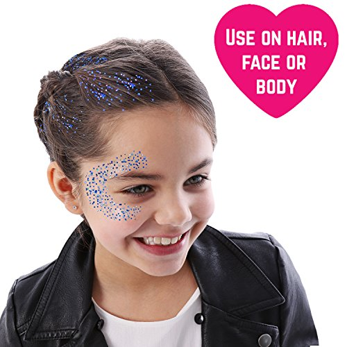 GirlZone GIFTS FOR GIRLS: Face, Hair & Body Cosmetic Glitter Makeup. Great Gift, Birthday Present Idea For Girls 4 5 6 7 8 9 10 years old plus. by GirlZone (Image #4)