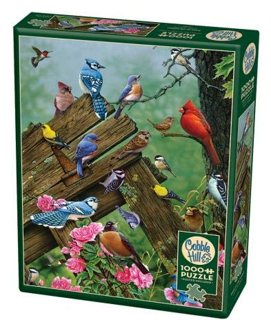 Cobble Hill 1000 Piece Puzzle - Birds of The Forest - Sample Poster Included