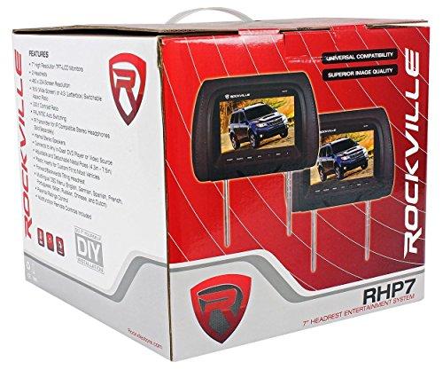 "Pair Rockville RHP7-BK 7"" Black TFT-LCD Car Headrest Monitors+2 Wireless Headset by Rockville (Image #6)"