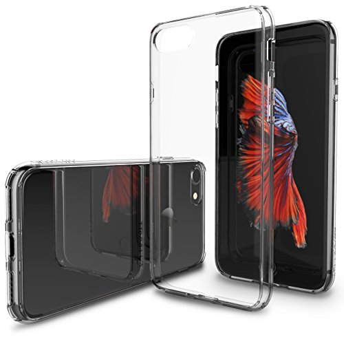 (Luvvitt Clear View iPhone 7 Case/iPhone 8 Case with Hybrid Scratch Resistant Back Cover and Shock Absorbing Bumper for Apple iPhone 7 (2016) and iPhone 8 (2017) - Crystal Clear)