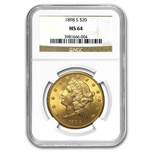 1898 S $20 Liberty Gold Double Eagle MS-64 NGC G$20 MS-64 NGC
