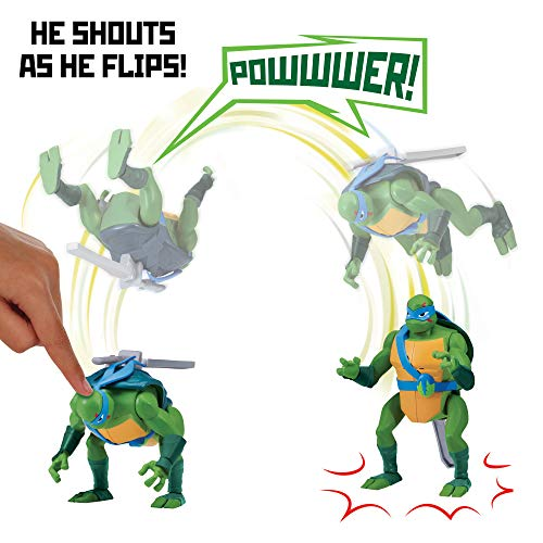 Rise of the Teenage Mutant Ninja Turtles Leonardo Backflip Ninja Attack Deluxe Figure]()
