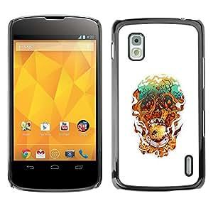 Caucho caso de Shell duro de la cubierta de accesorios de protección BY RAYDREAMMM - LG Nexus 4 E960 - Resumen astonaut