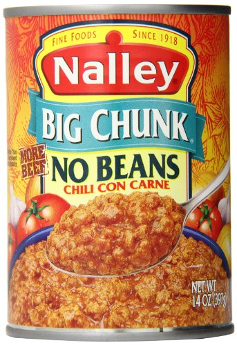 Nalley Chili Con Carne, No Beans, 14 Ounce (Pack of 12) (Easy Hot Dog Chili Recipe No Beans)