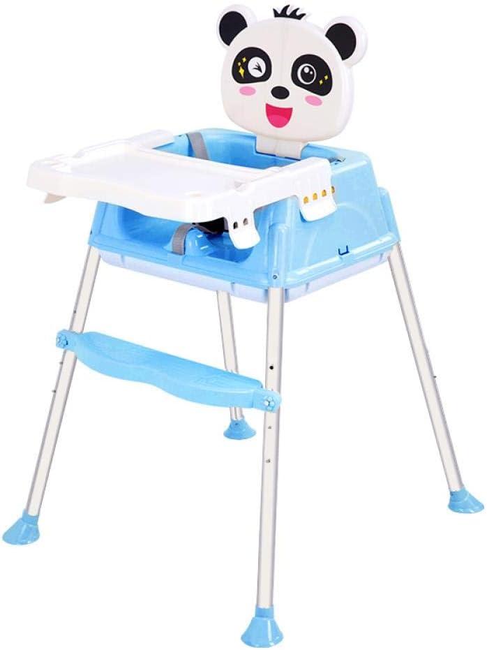 ベビーダイニングチェアポータブル折りたたみ式ベビーダイニングテーブルホームチェアチャイルドイーティングシートチャイルドダイニングチェアホイールなしのホワイトペイント、フレッシュブルー