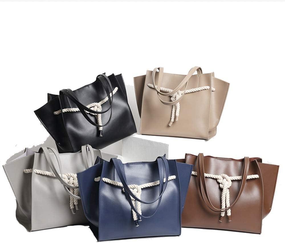 Handtaschen für Frauen Umhängetasche Frauen Retro Lässige Mode Rechnungen Schulter Slung Kleine Handtasche Weiblichen Rindsleder Tasche YJXUSHYQ (Farbe : Black) Blue