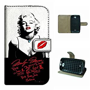 Advance 4.0 A270A Phone case,SoloShow Marilyn Monroe sexy hot pattern Luxury Wallet PU Leather Holder Pouch Case for BLU Advance 4.0 A270A 4.0 inch (love Monroe)