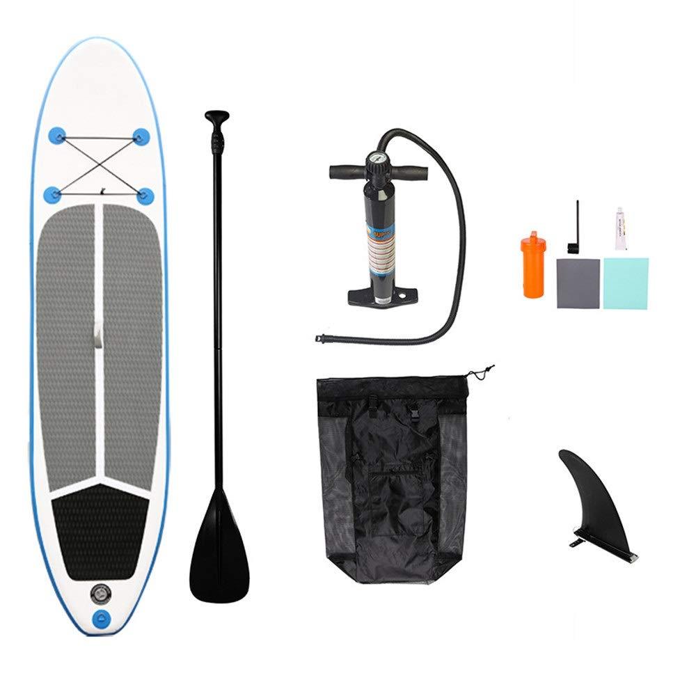 膨脹可能な携帯用反スリップSUPはかい、ひも、バックパックおよび修理用キットが付いているかい板を立てます 冒険を楽しむ (色 : 青, サイズ : 320x76x15cm) 青 320x76x15cm
