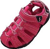 NORTY Girls Closed Toe Sandal, Pink, Fuchsia 40565-1MUSLittleKid