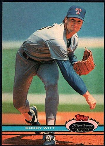 1991 Stadium Club Baseball #96 Bobby Witt Texas Rangers
