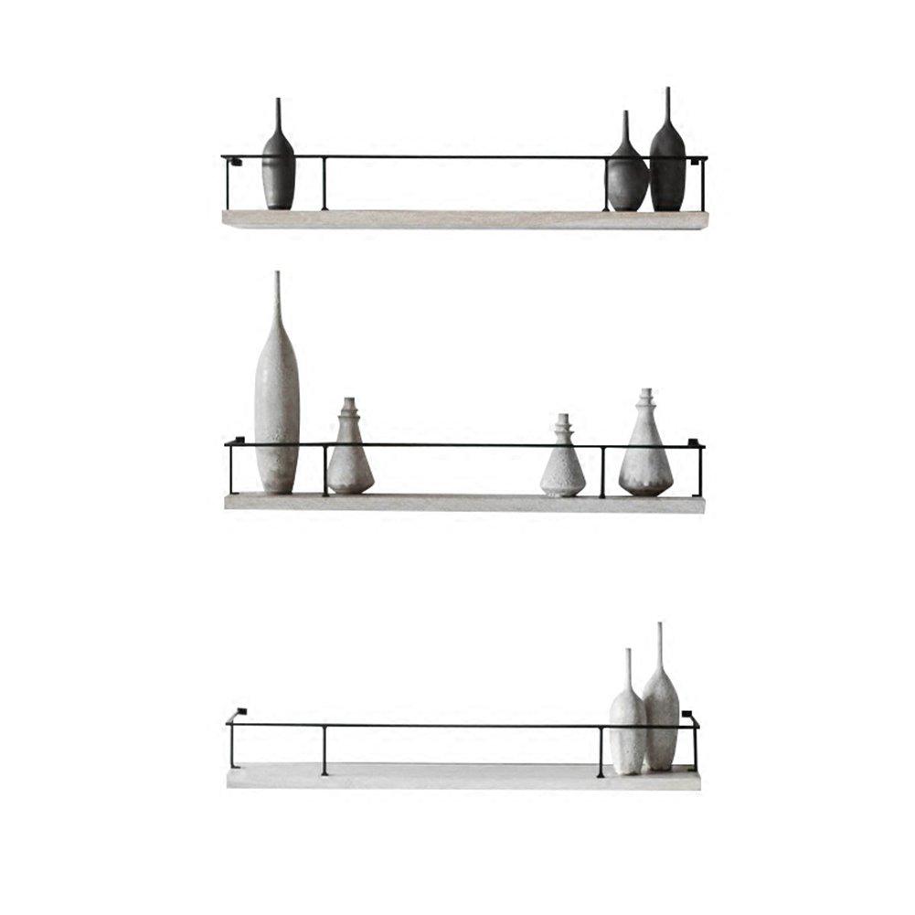 WENZHE 棚ウォールシェルフ,壁挂架搁板 コーナーシェルフ 鉄の芸術 キッチン リビングルーム ディスプレイスタンド ハンギングオーナメント、 無垢材、 3サイズ (色 : 3pieces, サイズ さいず : 80x15x12cm) B07FBNDBTX 3pieces 80x15x12cm