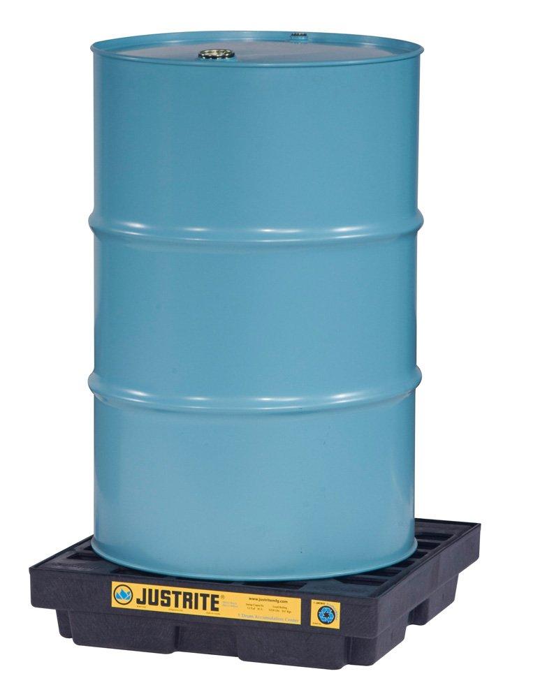 Justrite Ecopolyblend Modular''Green'' Spill Pallet - 25X25x6'' - Black