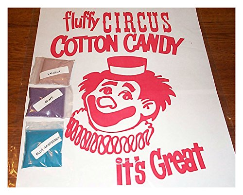 3 COTTON CANDY mix w/ SUGAR FLAVORING FLOSSINE FLAVORED FLOS