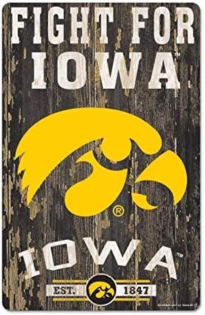 WinCraft NCAA Iowa Hawkeyes Sports Fan Home Decor, Team Color, 11x17