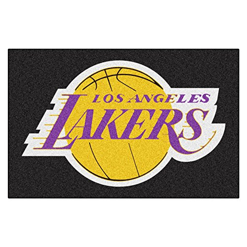 Fanmats NBA Los Angeles Lakers Nylon Face Starter (Fanmats Nba Starter Mats)