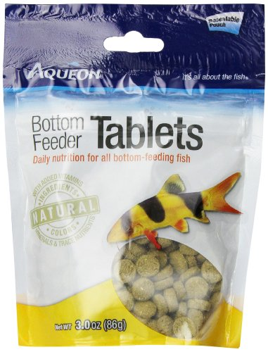 Aqueon Bottom Feeder Fish Food Tablets, 3-Ounce Pouch