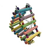 Borangs Bird Cage Parrot Toys Birds Ladders Wood