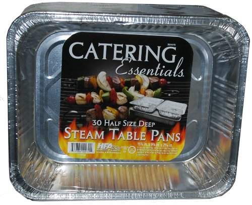 Catering Essentials Half Size Deep Foil Steam Table Pan - 30 Count