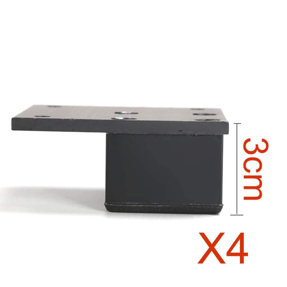 Furniture legs Pieds de Meubles 1-18mm Pieds de Rechange pour canap/é en m/étal , Hauteur r/églable Pieds de Table Basse 4 Jeux de vis Noirs avec vis