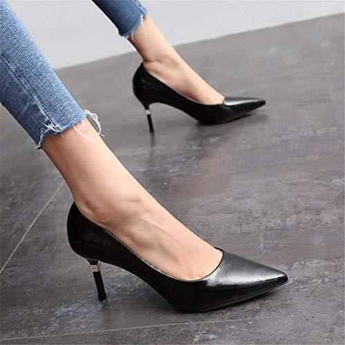 superficiale alto scarpe con sexy bocca bene tacco C lavoro Semplice moda da delle signore YMFIE scarpe sottolineato strass gP1Y7wx