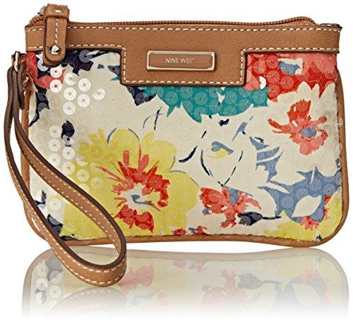 Nine West Table Treasures Wristlet Wallet, Spring Bouquet Sequins, One Size