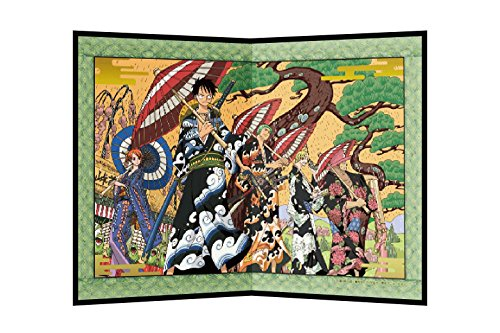 Poster Panel 【 One Piece / hanamichi 】 ( Art & Anime Painting ) Folds in half H10.9 x W15.7 Wooden Folding Screen Prints On Japanese Paper 【one (Lady Zoro)