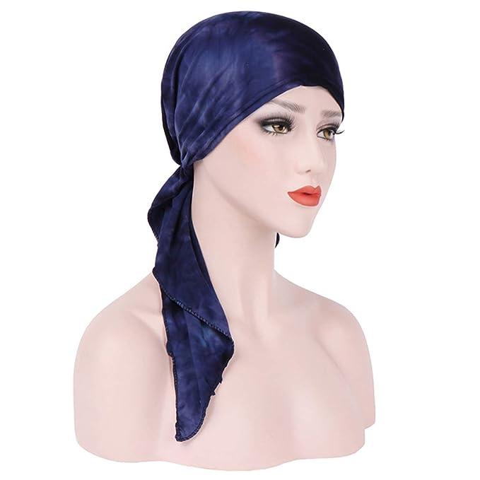 juqilu Sombrero Turban Headwear Sombrero Musulmán Sombrero Gorro, Pañuelo Atado Gorro Gorro de Dormir Gorra