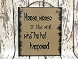 MIRROR MIRROR on the Wall what the Hell Happened 8X9 Reclaimed Wall Bathroom Gag gift 40th 50th 60th Birthday HUMOR Sign