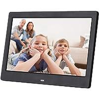 10 Pouces HD Cadre Photo Numérique Écran LCD 1024 * 768 Cadre électronique avec Horloge et Calendrier Soutien MP3 MP4 USB SD/MMC,avec Télécommande