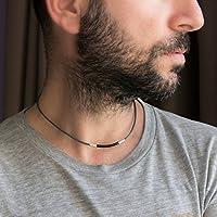 Men's Necklace - Men's Choker Necklace - Men's Leather Necklace - Men's Jewelry - Guys Jewelry - Guys Necklace - Jewelry For Men - Necklace For Men - Male Jewelry - Male Necklace