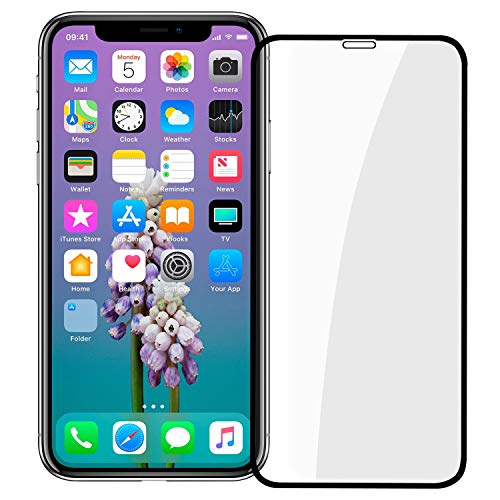 HD iPhone Xs Screen Protector, Thrikgold Full Screen Tempered Glass Screen Protector Film, Edge to Edge Protection Screen Cover Saver Guard 3D 9H Hardness for Apple iPhone X/XS (5.8) Black