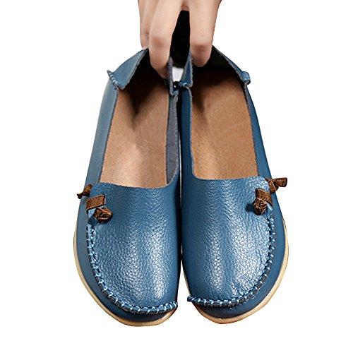 Blivener Scarpe Basse Da Donna Casual Mocassini Da Passeggio Comfort Estate Pantofole Lightblue