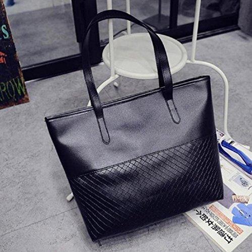 Handbag Messenger Shoulder Large Satchel Purse Black Women Tote Bluester Bag 75PYqY