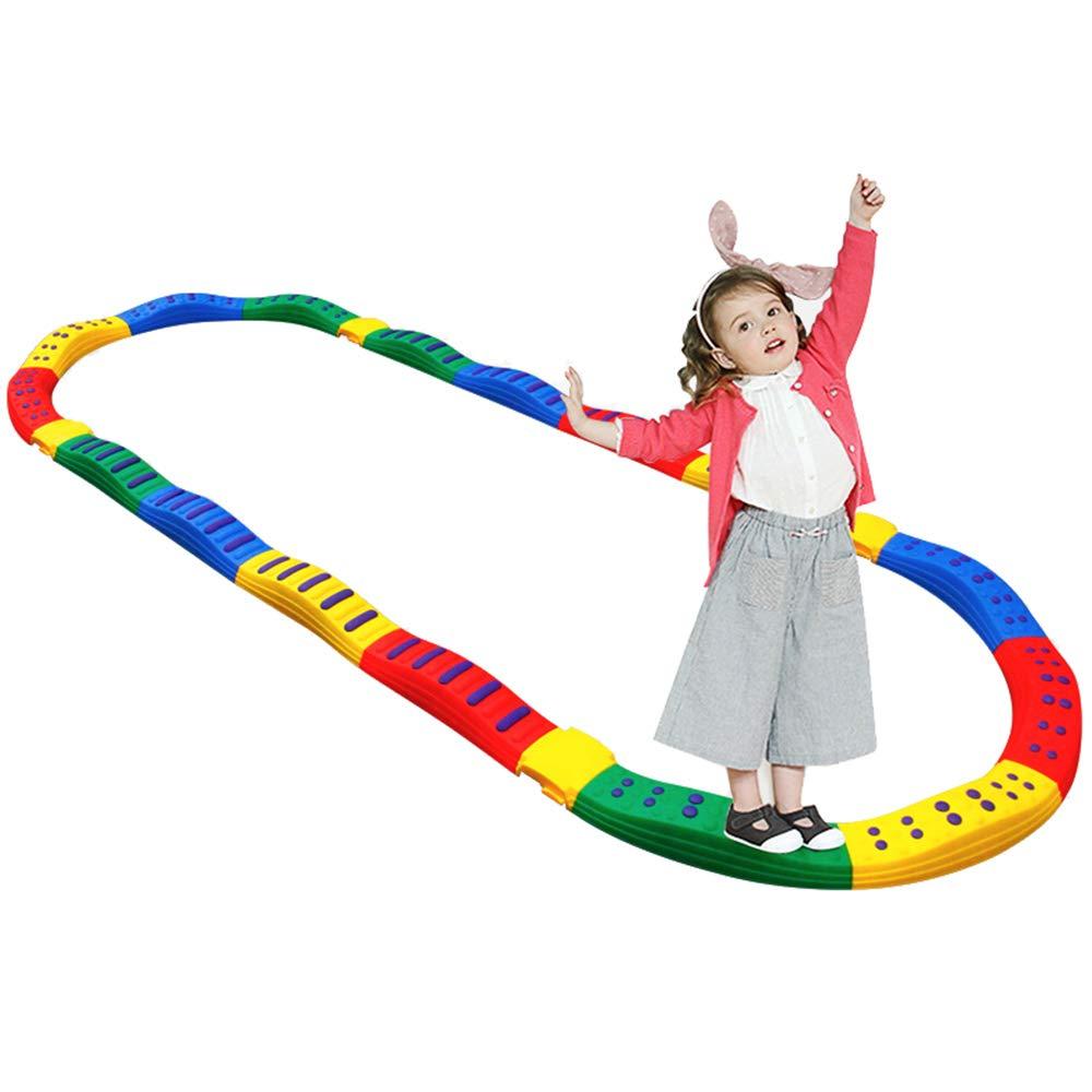 ランキング第1位 平均台セット バランスストーン バランスボード 子供用 体幹 トレーニング 幼稚園 安全 アウトドア スポーツ アウトドア 平均台セット 屋内 幼稚園 バランス遊具 自由に組替可能 [遊びで子供のバランス感覚と運動能力がアップ] 多色 (12個で1セット) B07R864VGJ 12個で1セット, 007速配コンタクトレンズ カラパラ:638c042c --- arianechie.dominiotemporario.com