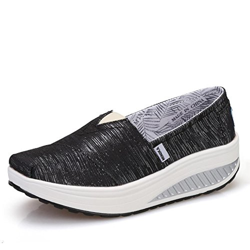 XUE Women's Shoes Spring Fall Loafers & Slip-Ons Driving Shoes Fitness Shake Shoes Shake Shoes Shaking Shoes Flat Loafers Sneakers Athletic Shoes Platform Shoes (Color : C, Size : 36) B