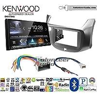 Volunteer Audio Kenwood DMX7704S Double Din Radio Install Kit with Apple CarPlay Android Auto Bluetooth Fits 2009-2014 Honda Fit