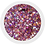 Dots ROSE nail art 10 grs grosses paillettes manucure ongles gel uv french