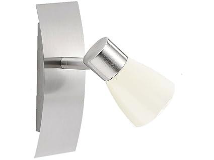 Wandlampe Glas weiß mit Schalter Leseleuchte Flurlampe Wandspot schwenkbar