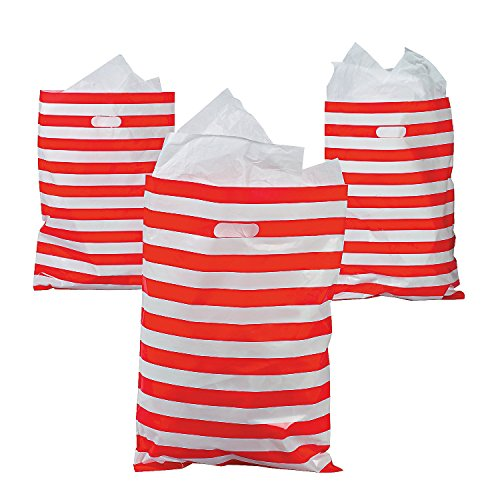 - HUGE Red and White Stripe Plastic Favor 17