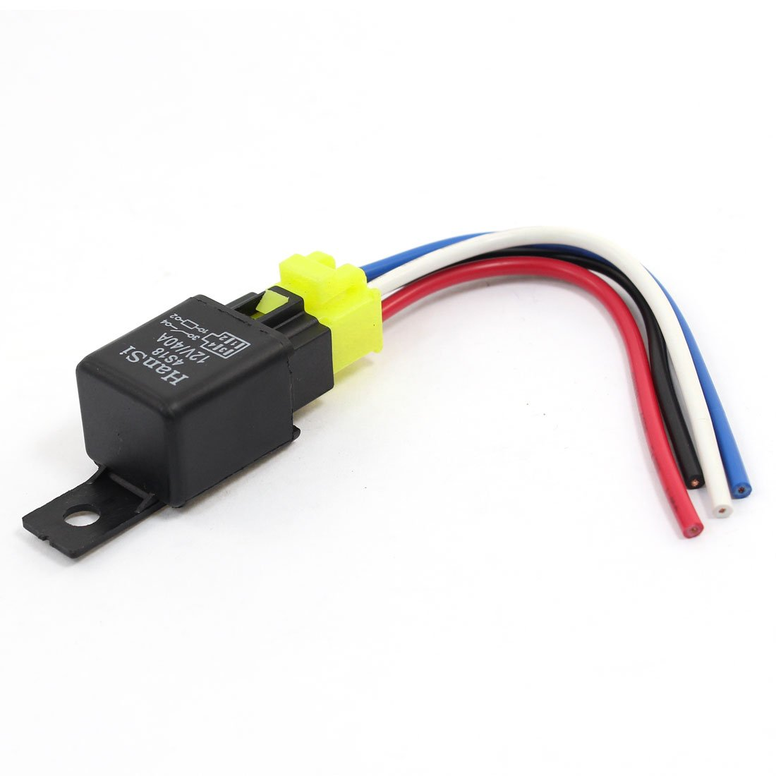 Uxcell A13112800ux1074 Car Auto Truck Spst 4 Pin Relay Dpdt Toggle Switch Wiring Diagram Together With Double Coil Plastic Socket Harness Wire 40a 12v Dc Industrial Scientific