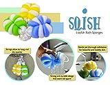 Exfoliating Mesh Pouf Bath Sponge Loofah Shower Ball by SQISH (3-Pack) Set