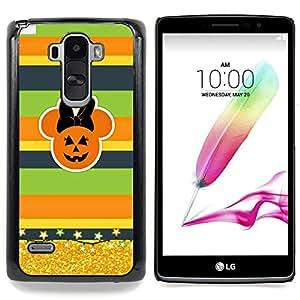For LG G4 Stylus H631 MS631 H635 H540 H630D H542 , Gold Glitter calabaza de la caída - Diseño Patrón Teléfono Caso Cubierta Case Bumper Duro Protección Case Cover Funda