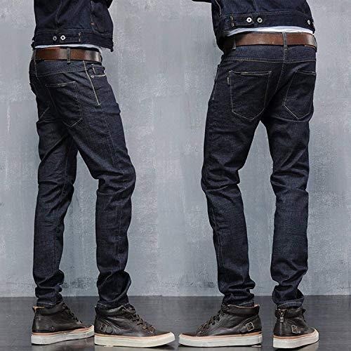 Base Denim Colour I A Fit Sigaretta Pantaloni Sezione Stretch Lavato Uomini Jeans Slim Dei Giovane Di qSwPvv