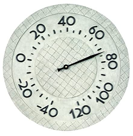 Stone Look Outdoor Wall Thermometer Large Easy to Read